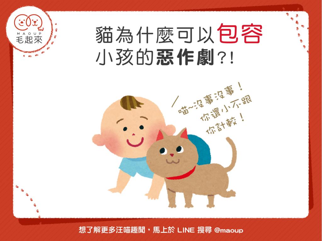 【毛起來小筆記】貓貓為什麼可以包容小孩子的惡作劇?