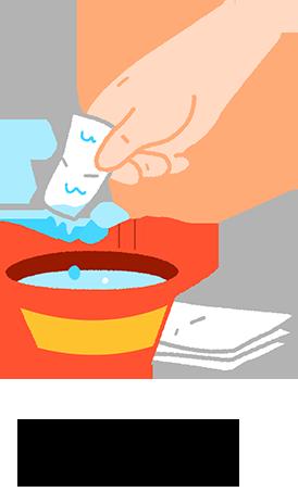 習慣後可以換成用紗布沾水刷牙