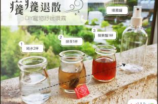 【癢癢不要來!】3種簡單原料~輕鬆DIY寵物止癢噴霧!