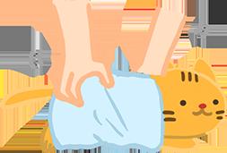 4. 沖水後用吸水毛巾輕輕擦乾