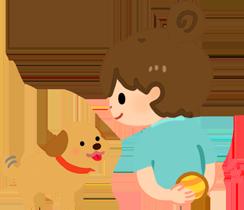 把玩具藏在狗狗看不到的地方