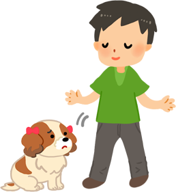無視狗狗的表現,安靜地將狗狗放下
