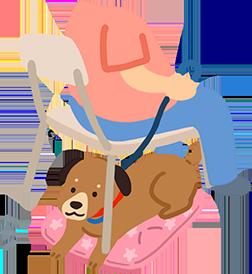 攜帶有狗狗熟悉氣味的坐墊