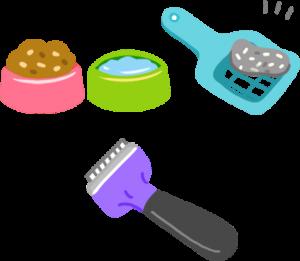 給予新鮮飼料與飲水 清洗貓碗 鏟尿鏟便便 梳毛