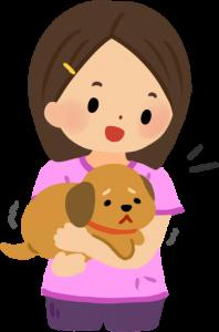 抱著狗狗百般安撫