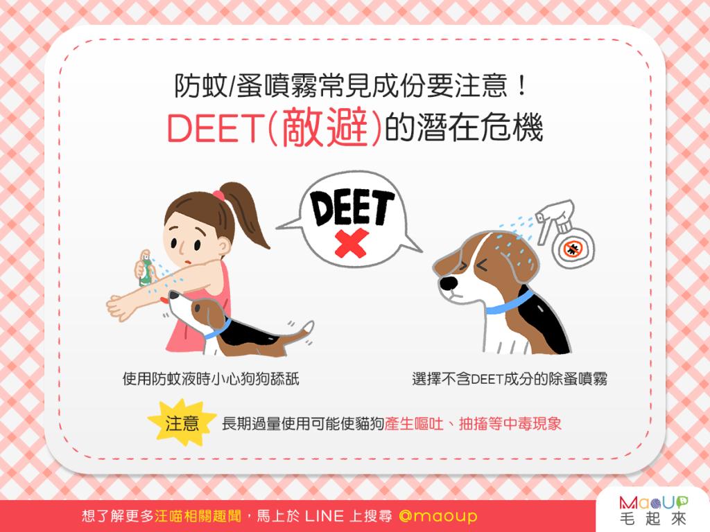 【汪喵康健】防蚊蚤噴霧好放心?當心DEET(敵避)的潛在危機!