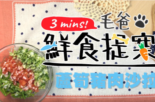 【毛爸鮮食提案】好吃到讓狗狗飛起來—蘆筍豬肉沙拉!