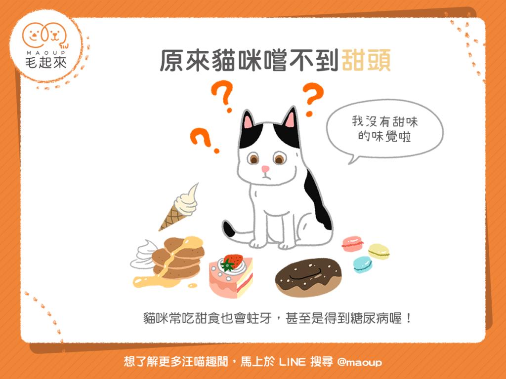 【汪喵餵養知識】什麼?原來貓咪嚐不到「甜頭」?!