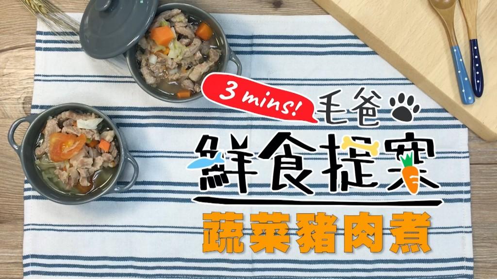 【毛爸鮮食提案】輕鬆上桌輕鬆煮,汪汪最愛的-蔬菜豬肉煮!