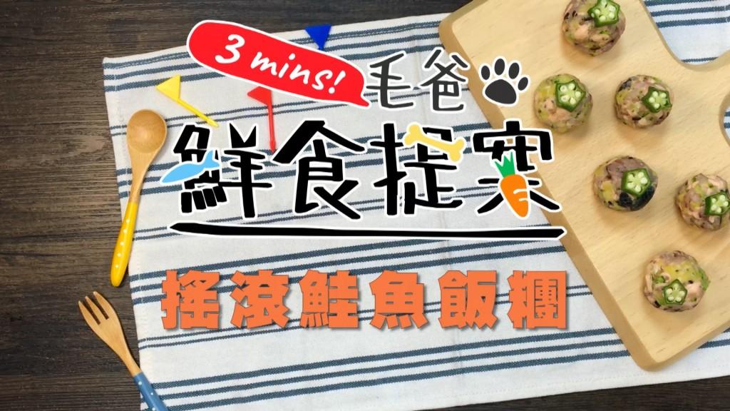 【毛爸鮮食提案】翻滾吧飯糰!最Rock的鮮食—搖滾鮭魚飯糰!