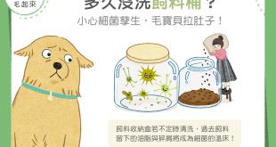 【汪喵餵養知識】多久沒洗飼料桶?小心細菌孳生,毛寶貝拉肚子!