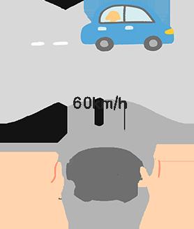 穩定慢速開車