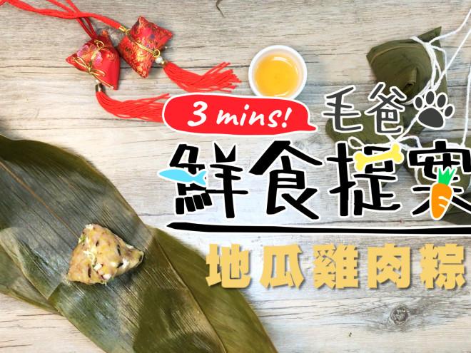 【毛爸鮮食提案】端午節一起來包粽子吧!健康又營養-地瓜雞肉粽
