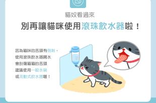 【汪喵餵養知識】貓奴看過來別再讓貓咪使用滾珠飲水器啦!