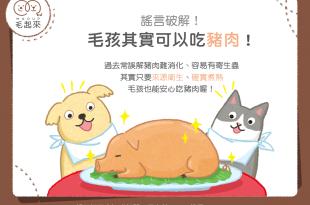 【毛孩食材圖鑑】謠言破解!毛孩其實可以吃豬肉!