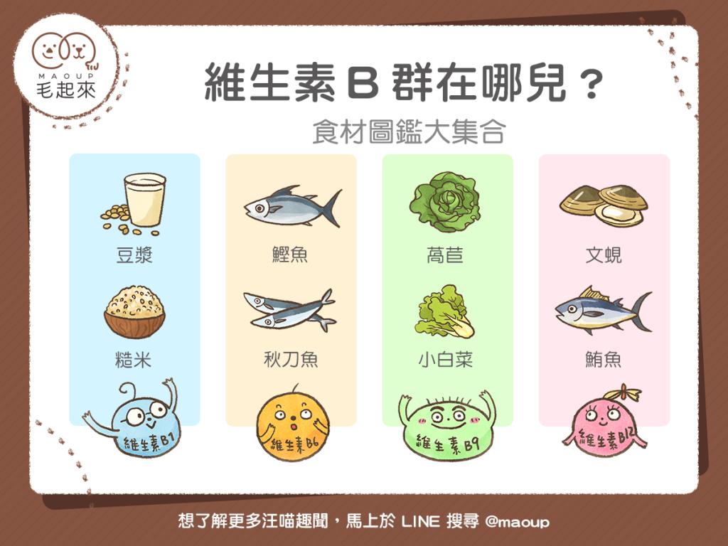 【毛孩食材圖鑑】維生素B群在哪兒?食材圖鑑大集合