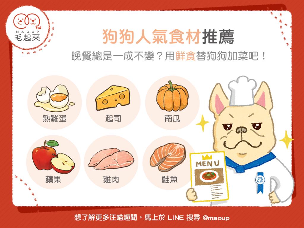 【鮮食烹飪秘訣】狗狗人氣食材TOP6!用新鮮食材替狗狗加菜!