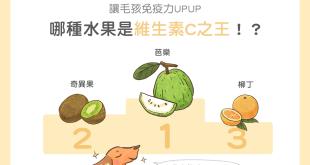 【毛孩食材圖鑑】讓毛孩免疫力UPUP!哪種水果是維生素C之王?