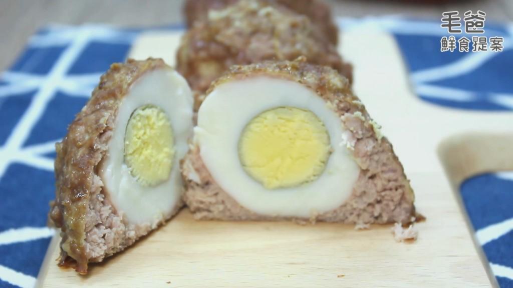 【毛爸鮮食提案】不給肉肉就搗蛋~烘烤蘇格蘭蛋!