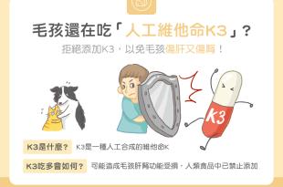 【汪喵餵養知識】毛孩還在吃「人工維他命K3」?小心傷肝又傷腎!