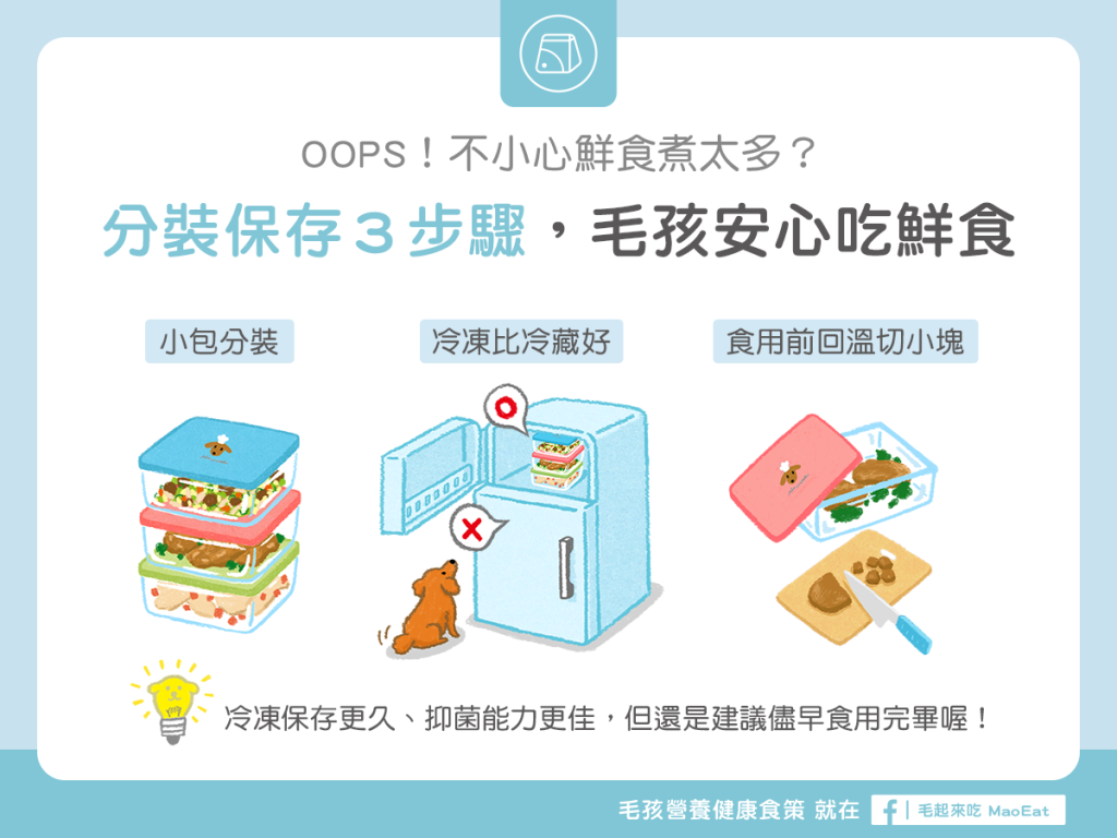 【鮮食烹飪秘訣】一次煮太多?分裝保存3步驟,毛孩安心吃鮮食!