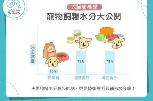 【毛孩食品解析】寵物飼糧水分大公開!