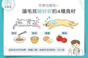 【毛孩食材圖鑑】作夢也會笑~讓毛孩睡好好的四種食材!