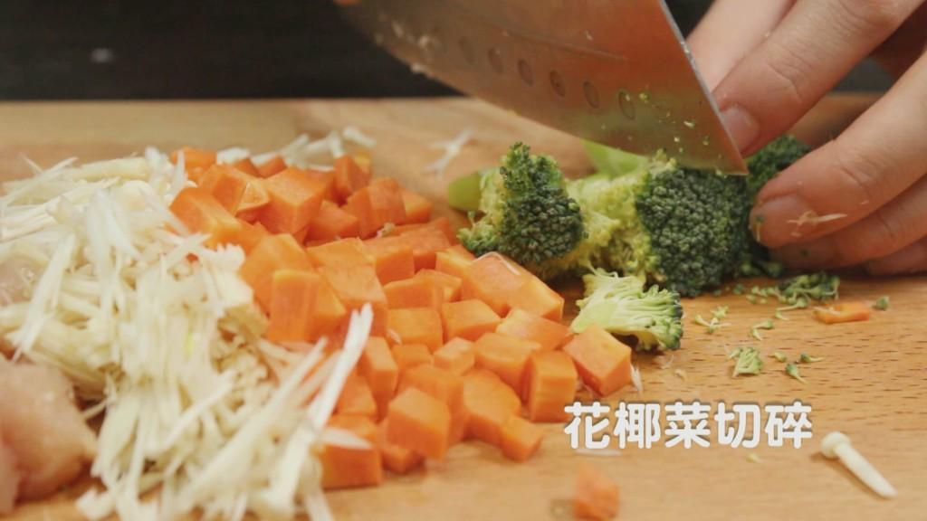 毛爸鮮食提案寵物狗狗鮮食日式料理金針黃金菇菇親子丼