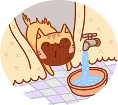 熟悉浴室環境