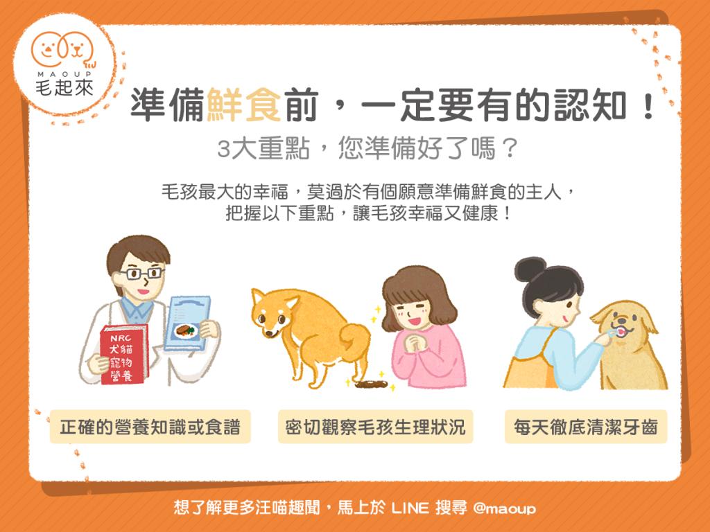 【汪喵餵養知識】準備貓狗鮮食前,一定要有的認知!3大重點,您準備好了嗎?