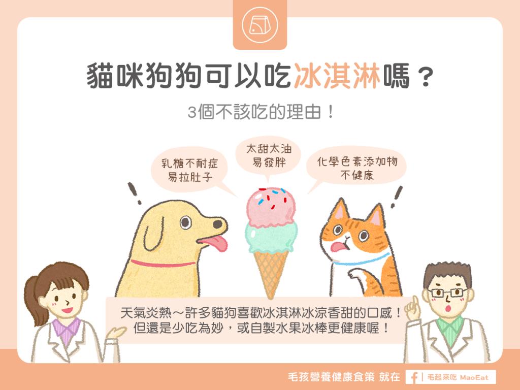 貓咪可以吃冰淇淋狗狗可以吃冰淇淋消暑吃冰寵物吃冰拉肚子太甜禁吃冰棒冰淇淋