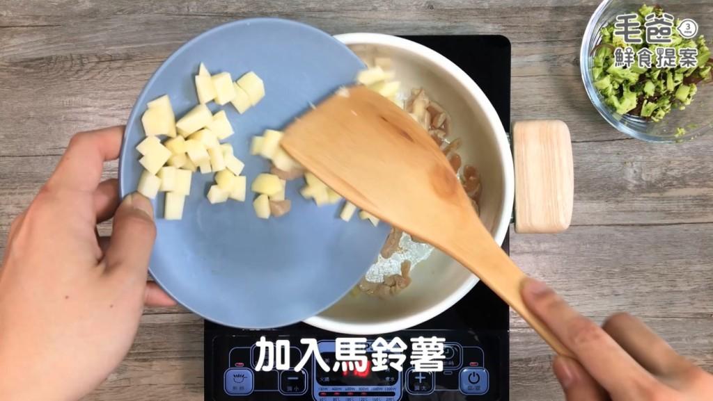 毛爸鮮食提案歐式田園風嫩雞野菜燉飯簡單方便快速料理
