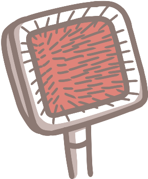 粗的針梳適合解毛球、細的針梳適合梳出蓬鬆感,適合長毛毛孩