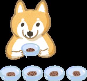 狗狗拿小碗吃飯