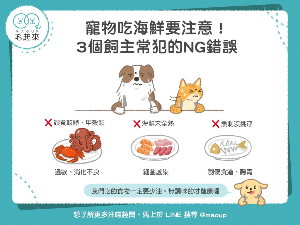 寵物吃海鮮要注意的常見錯誤