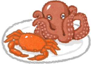海鮮螃蟹章魚